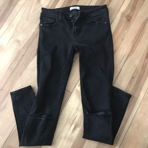 Abercrombie & Fitch Distressed Black Jeans